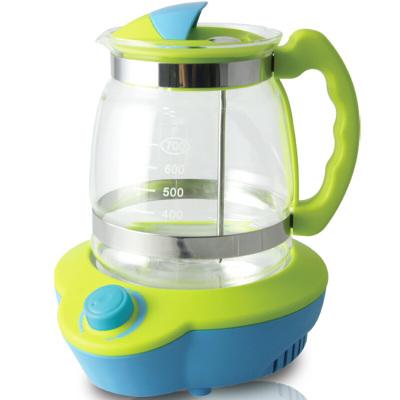 小白熊(Snow Bear)恒溫玻璃壺調奶器 多功能暖奶智能調奶器家用熱水壺 藍綠 HL-0813
