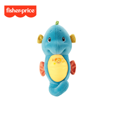 費雪 新版聲光安撫海馬 新生兒早教音樂寶寶哄睡益智玩具-藍色GCK71