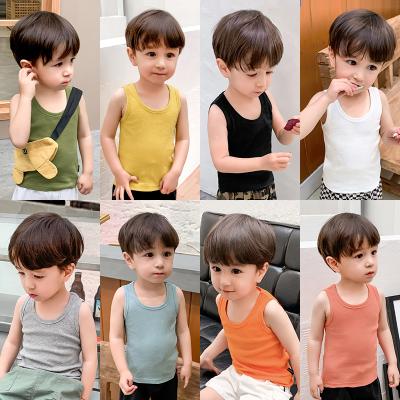 嬰兒純棉背心無袖T恤夏裝潮童裝兒童男童小寶寶薄款打底上衣X1058