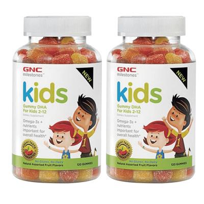 【2瓶裝】美國進口GNC 健安喜兒童DHA軟糖120粒 美味可口 補充DHA 大腦發育