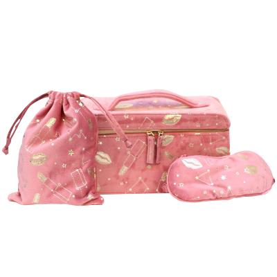 雅詩蘭黛(Estee Lauder)秋季粉色天鵝絨化妝箱
