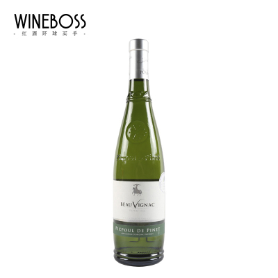 WINEBOSS 法国原瓶进口白葡萄酒 原装干白葡萄酒 海神干白单只装