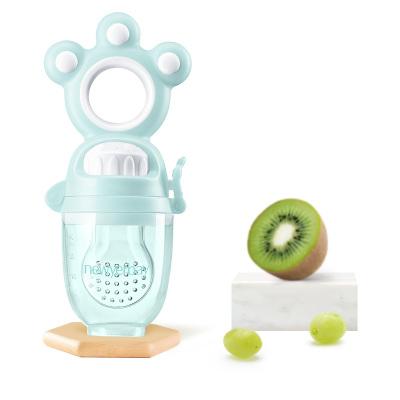 纽因贝 果蔬咬咬乐 蓝色(单个装+加赠咬袋3只)婴儿牙胶磨牙棒硅胶牙咬胶宝宝安抚奶嘴磨牙器玩具