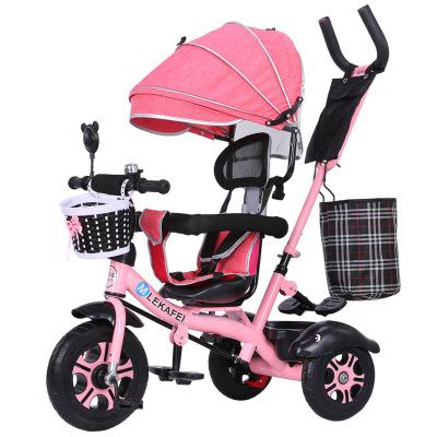 兒童三輪車寶寶腳踏車1-5歲自行車嬰幼兒手推車智扣大號輕便騎行推車