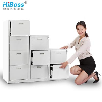 HiBoss 鋼制文件柜鐵皮柜辦公柜斗柜掛勞柜卡片柜卡箱抽屜柜