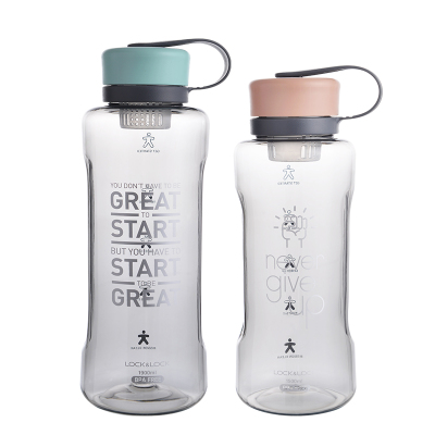 樂扣樂扣大容量塑料水杯便攜式運動隨手杯大號簡約茶杯戶外杯子
