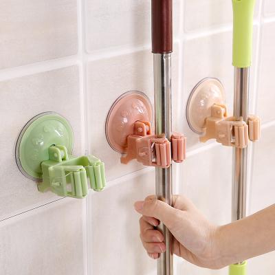 吸盤掛拖把架浴室掃把架子 免打孔無痕拖把掛鉤拖把夾卡座