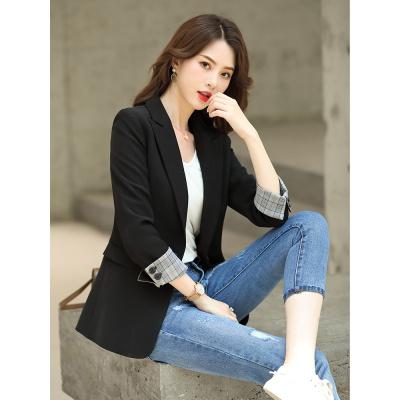香港潮牌黑色小西裝外套女2020春秋新款網紅休閑西服套裝韓版