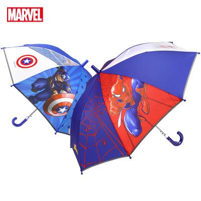 迪士尼(Disney)兒童傘男女學生長柄傘半自動睛雨傘 蜘蛛俠雨傘 漫威兒童雨傘