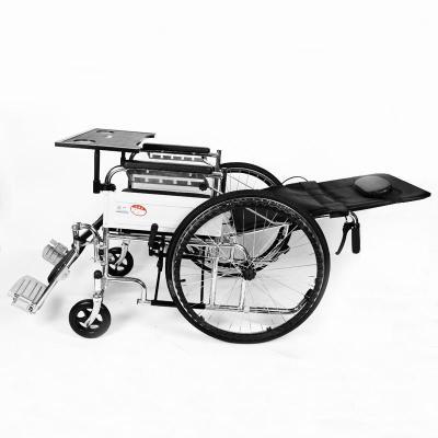 高博士(GAO BO SHI)帶坐便輪椅折疊老人輕便手動輪椅車老年人殘疾人代步車多功能手推車 全躺款