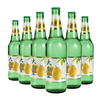 东北大白梨老式汽水80后怀旧大香槟大白梨玻璃瓶果味碳酸饮料 500ml*6瓶