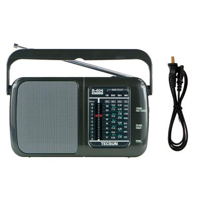 德生(TECSUN)收音機R-404P黑 老年人便攜式臺式家用 交直流半導體全波段指針式收音機 插電用配電源線 聲音洪亮