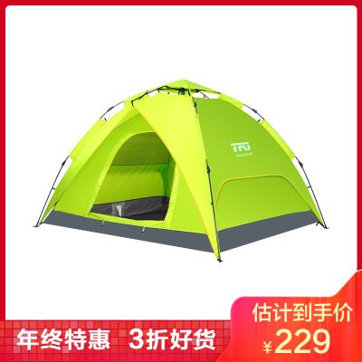 TFO 帐篷户外3-4人 防水防风防蚊 野外双层双门 自驾游 露营 野外 全自动帐篷