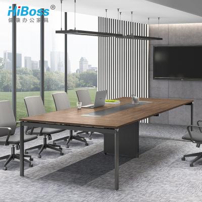 HiBoss会议桌钢架会议室桌子培训长条桌