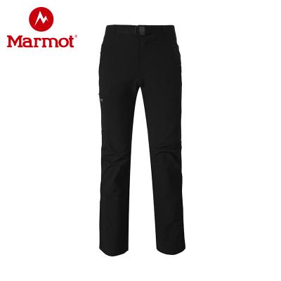 Marmot/土撥鼠新款戶外防潑水拼接防風男士M3長褲軟殼褲