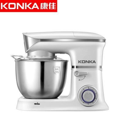 康佳(KONKA)KM-904廚師機家用和面機多功能揉面機攪拌機打蛋器料理機電子式旋鈕式 象牙白三合一