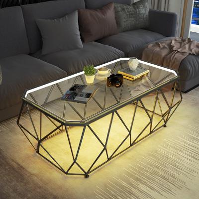 金沙公爵 北欧简约客厅大理石茶几小户型家用玻璃茶几茶桌长方形创意现代网红边几桌