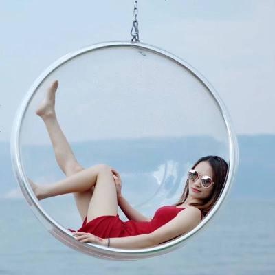 抖音網紅透明泡泡椅半球吊椅亞克力吊籃秋千球形椅吊球玻璃太空椅