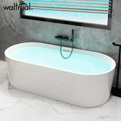 沃特瑪小戶型浴缸亞克力薄邊成人家用浴池浴室浴盆1.2-1.8米可選