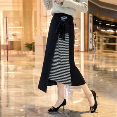 絲柏舍2019秋裝女士時尚修身收腰不規則下擺半身裙S93F0016B