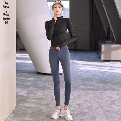 樵健身女彈力緊身蜜桃臀瑜伽服套裝速干跑步運動長褲高腰打底褲夏季
