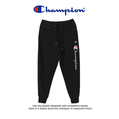 Champion 冠軍褲子男夏季薄款寬松情侶運動長褲女束腳潮牌衛褲 C3-Q6012