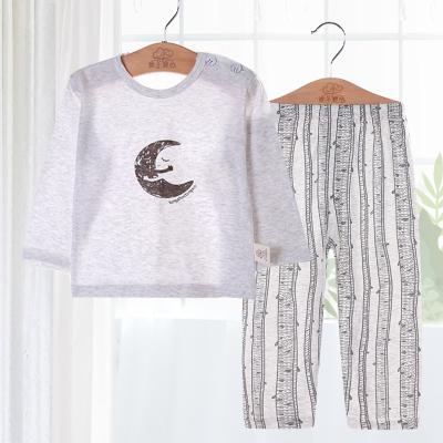 兒童睡衣夏季寶寶空調服男童薄款長袖純棉嬰兒套裝春秋女孩家居服薄