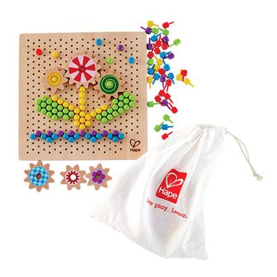 Hape百变像素画3-6岁儿童益智玩具宝宝早教逻辑兴趣艺术男孩女孩蘑菇钉拼插