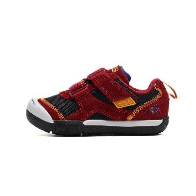 Skechers斯凱奇男童休閑鞋低幫魔術貼透氣小童鞋97880N 97880N/BUBK棕紅+