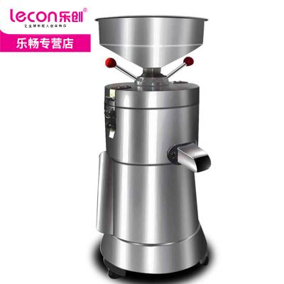 lecon/乐创商用豆浆机 不锈钢磨浆机早餐全自动磨浆机家用渣浆分离现磨豆腐脑机 不带加热功能 大容量豆浆机