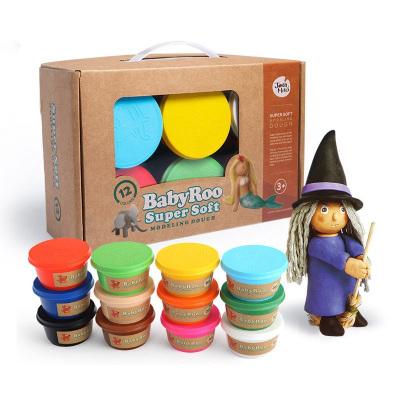 Joan Miro 美樂 兒童12色彩泥無毒橡皮泥手工泥手工diy面粉材質無毒粘土彩泥玩具3-6歲