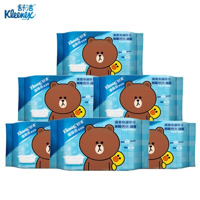 舒洁湿厕纸家庭装【40片*6包】 私处清洁湿纸巾湿巾 可搭配卷纸卫生纸使用 湿厕纸