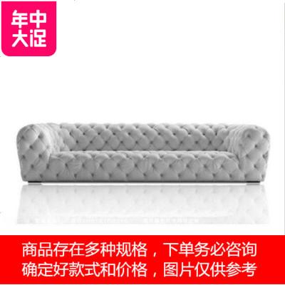 四人 颜色可以选择北欧创意蓝色丝绒沙发别墅轻奢家具软装设计师客厅三人四沙发 定制