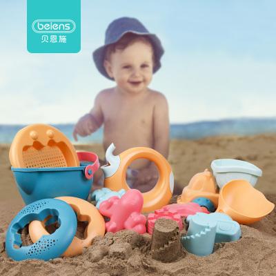 貝恩施兒童沙灘玩具套裝玩沙子挖鏟子工具決明子寶寶戲水洗澡玩具 模型玩沙工具套裝