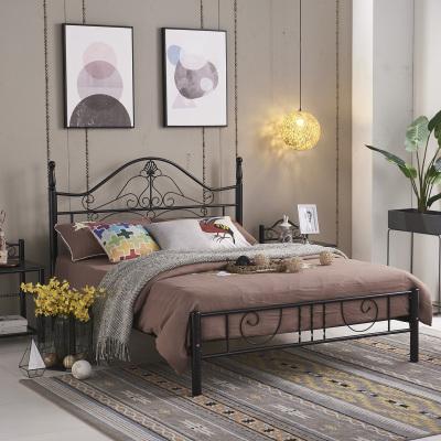 叠亿 铁艺床 铁架床 铁床 免漆实木床板 高床头 烤漆防潮款 皇冠形高床头
