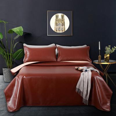 百麗絲家紡 水星出品 盛世豪庭意大利進口頭層牛皮席 涼席席子 床上用品
