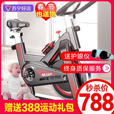 健身车动感单车 2019年 新上市 直立式 刹车片健身车室内自行车静音脚踏车家用健身器材