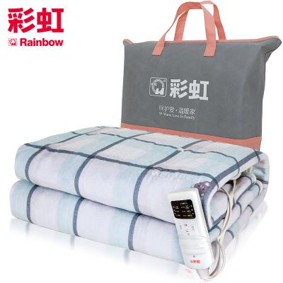 彩虹(RAINBOW)电热毯双人电褥子(2.0*1.8米)加大三人加厚双控双温电热褥 一键除螨排潮定时关断 智能降档