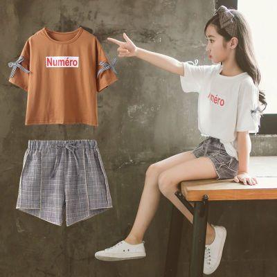 女童夏裝套裝2019新款洋氣套裝韓版潮衣中大兒童裝短褲運動兩件套 莎丞