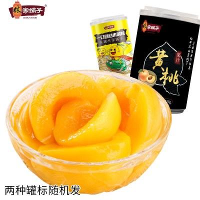 【林家鋪子旗艦店】新鮮果汁黃桃罐頭425g*6罐水果罐頭整箱零食