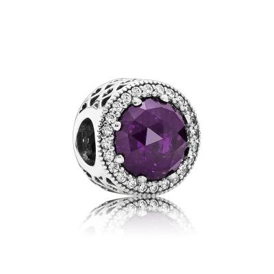 PANDORA潘多拉 紫色閃耀的心 925銀 女士串飾-791725NRP