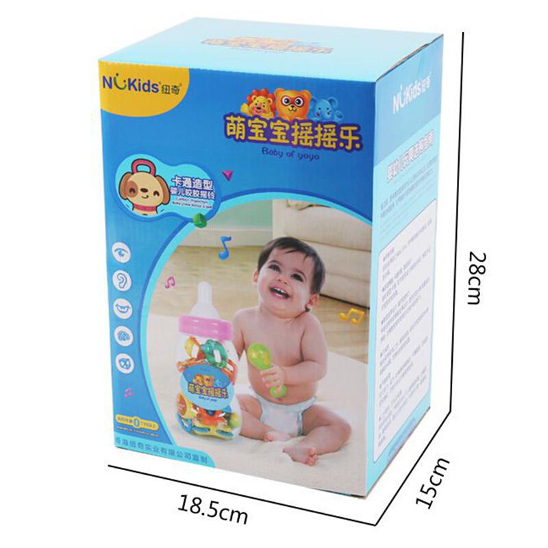 ?#22402;词鄭╣ougoushou)&纽奇 婴儿摇铃牙胶玩具 0-1岁早教益智玩具 新生儿宝宝玩具 婴幼儿牙胶手摇铃20件