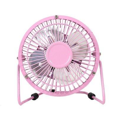 乾越(qianyue)迷你4寸USB風扇辦公室臺式電腦桌面小風扇學生宿舍床上電風扇 粉色