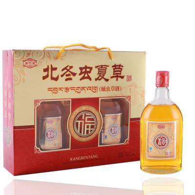 康仁堂北冬蟲夏草酒營養酒補酒禮盒裝500ml*2健康滋補酒