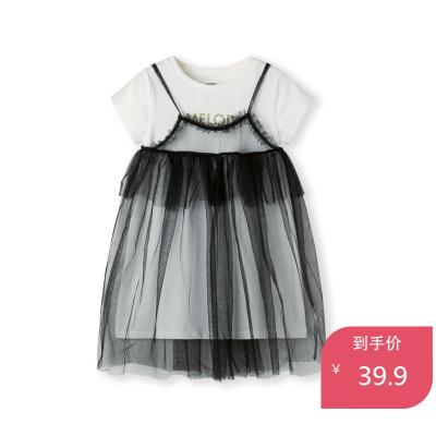 巴拉巴拉童裝女童連衣裙夏季新款兒童紗裙小童寶寶裙子T恤女
