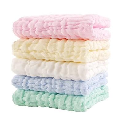 拉里寶貝寶寶口水巾 圍嘴純棉6層紗布嬰兒方巾 新生兒洗臉毛巾5條裝30*30cm*5四季款LN9YM541一D