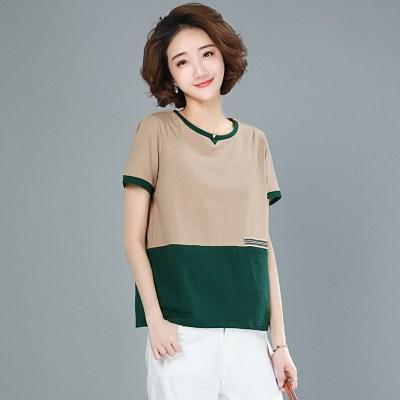 班俏BANQIAO 短袖T恤女士短袖2020年夏季新款青少年時尚韓版潮ins夏裝寬松上衣女裝短袖T恤