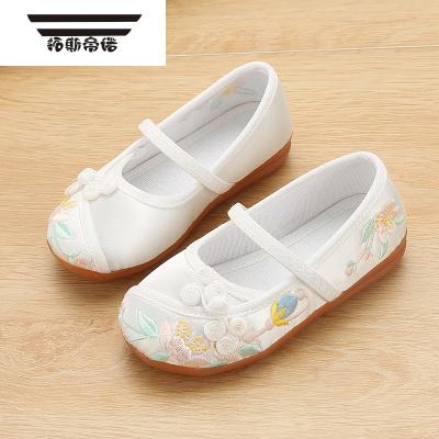 新款女童老北京布鞋兒童繡花鞋民族傳統布鞋童鞋公主寶寶漢服鞋