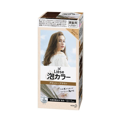 Kao 花王旗下 Liese 莉婕 泡沫染發劑 法國米棕 108ml(黑發用不遮白)