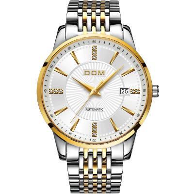多姆(DOM)正品男士手表男轻薄新款自动镂空防水机械表经典休闲时尚商务大气钢带男生腕表